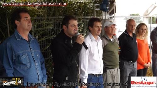 Ir para  <p>Foi inaugurado neste dia 13 de junho em Viadutos a Agroindústria Reginato, Uma agroindústria que veio para somar ainda mais com o desenvolvimento da Cidade na frabricação de derivados de leite...