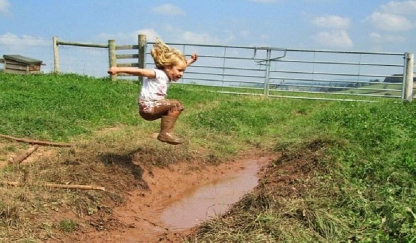 Poças de lama!