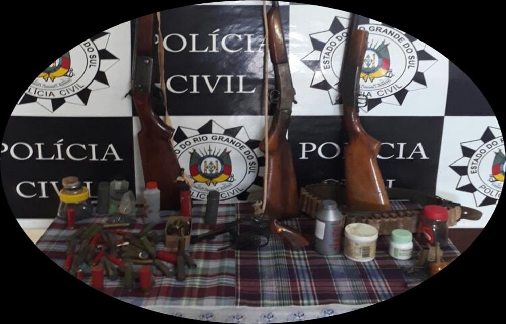 Ir para  <p>Na tarde desta segunda-feira (8), policiais civis da Delegacia de Pol&iacute;cia de Gaurama, coordenados pela Delegada de Pol&iacute;cia Raquel Kolberg, no curso de procedimento policial instaurado para apurar a...
