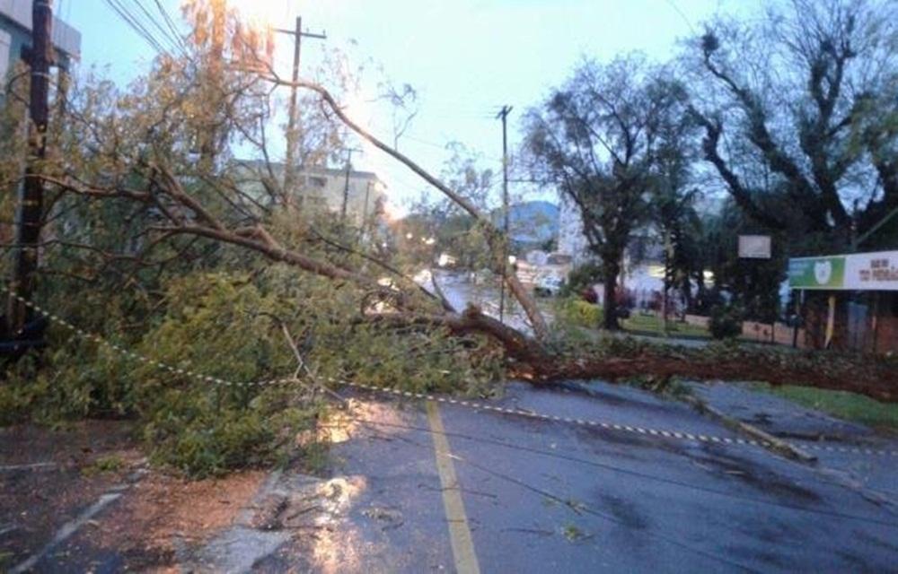 Ao menos 400 casas são danificadas pelas chuvas na região Central do RS.