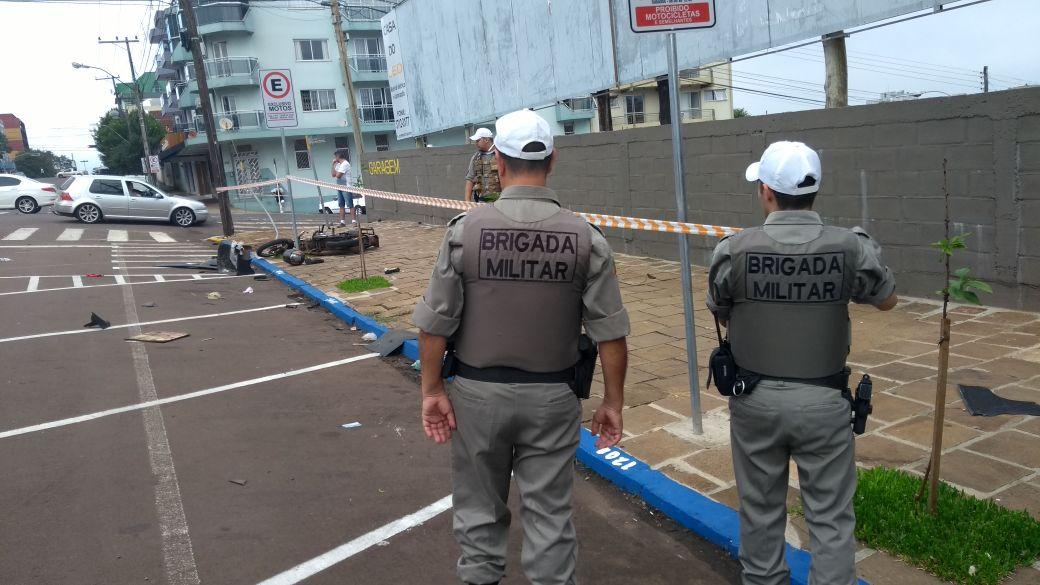 Ir para Motoboy perde a vida em colisão no centro de Erechim
