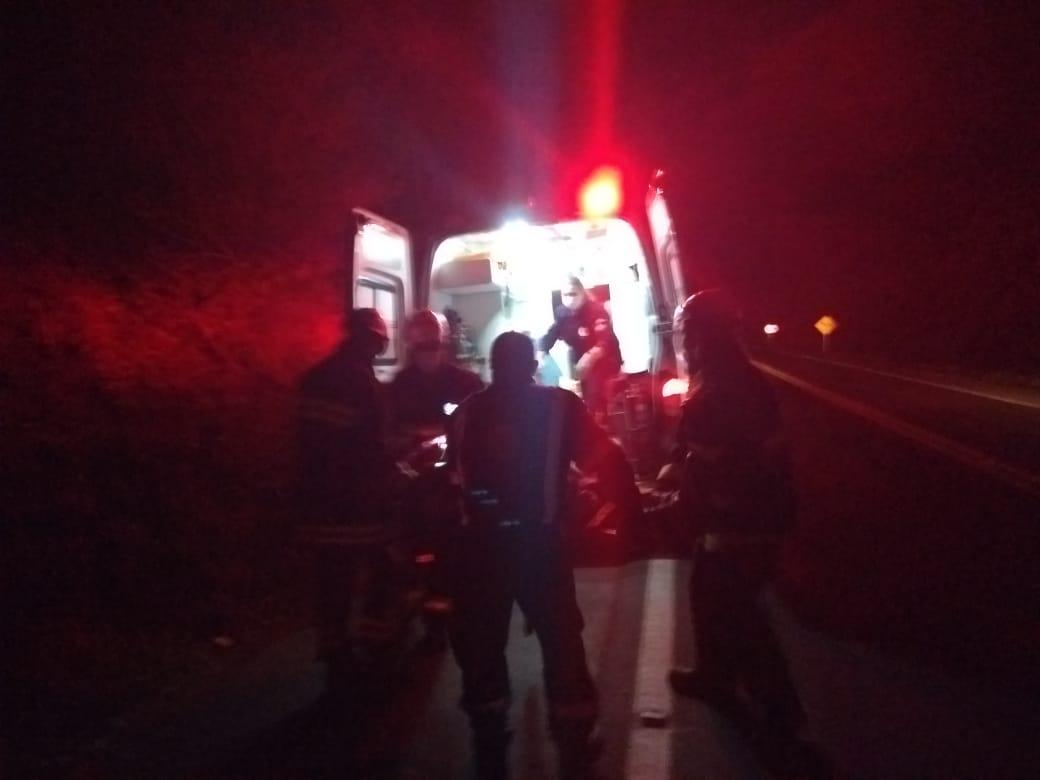 Ir para  <p><big>Um homem de 29 anos sofreu ferimentos de média gravidade após se envolver em um acidente de trânsito na BR-153, em Concórdia, por volta das 20h50 deste...