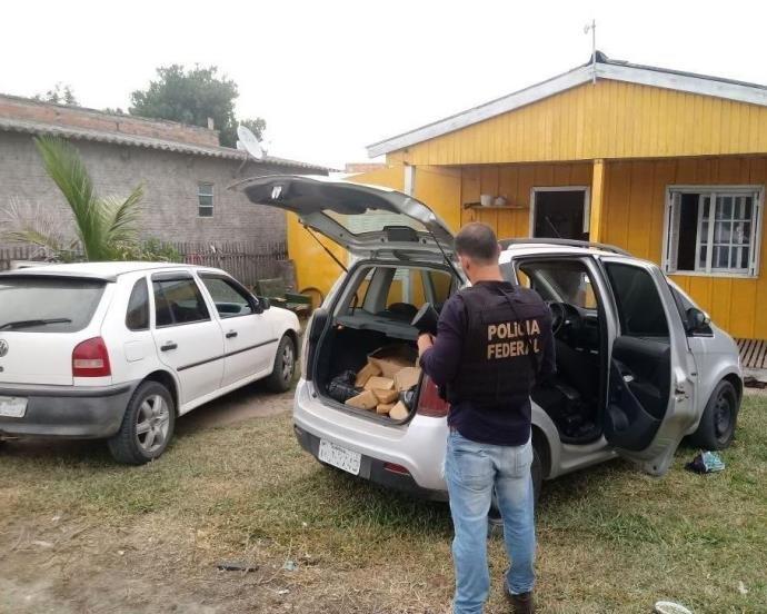 Operação da PF mira organização criminosa do RS que enviava drogas ao Uruguai.
