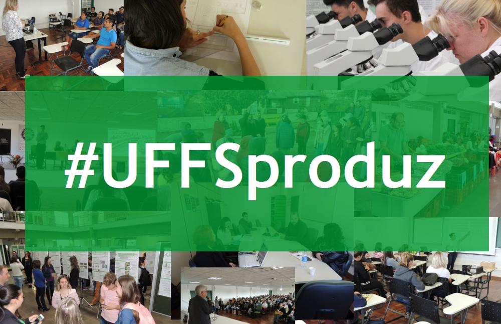 Ir para  <p><big>Se você entrar em alguma rede social, principalmente no Facebook, e digitar no campo de busca a hashtag #uffsproduz, encontrará uma série de publicações feitas por...