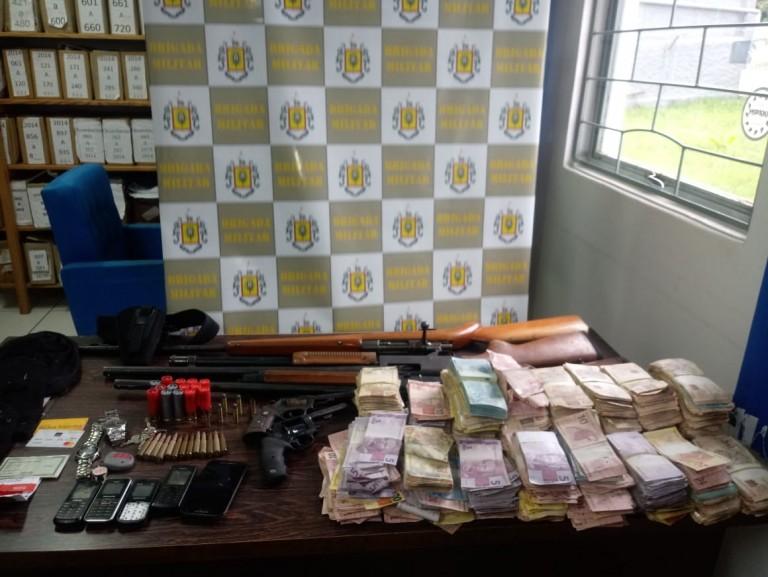 Polícia recuperou R$ 315 mil com assaltantes em Trindade do Sul