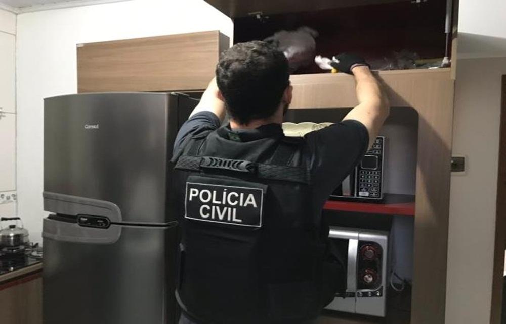 Polícia Civil combate o tráfico de drogas no Rio Grande do Sul.