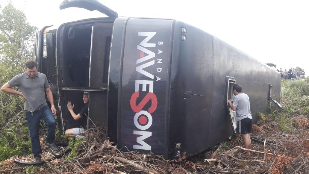Ir para  <p><big>Um acidente grave foi registrado na manhã deste sábado, dia 22, na BR-153, km 64 em Irani, envolvendo um Ford/Fiesta e um ônibus da banda Nave Som de Itá. A colisão ocorreu...