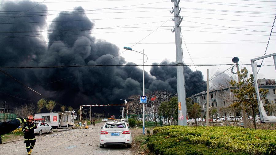 Sobe para 47 o número de mortos em explosão de fábrica na China.