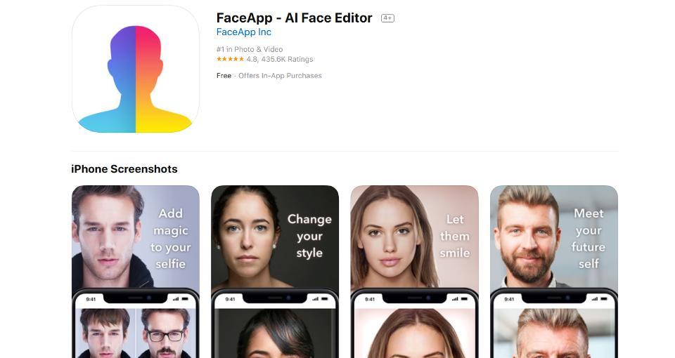 FaceApp pode abrir porta para abusos com dados dos usuários.