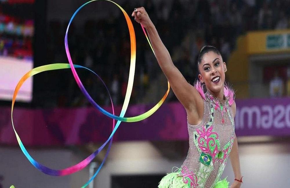 Ir para  <p>A equipe brasileira de gin&aacute;stica r&iacute;tmica conquistou nesta segunda-feira sua primeira medalha de ouro nos Jogos Pan-Americanos de Lima, no Peru. As brasileiras marcaram 24,250 pontos na...