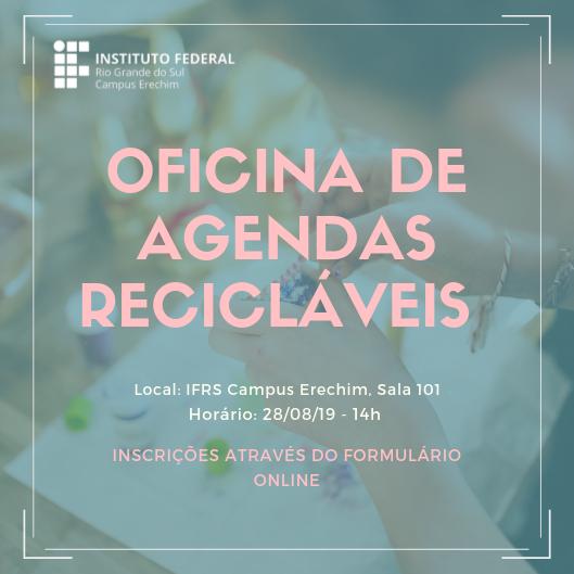 IFRS oferta oficina de Agendas Recicláveis