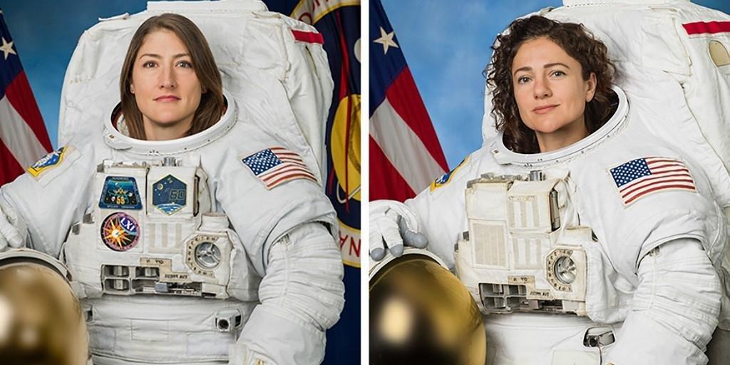 Pela primeira vez, duas mulheres fazem uma caminhada no espaço.