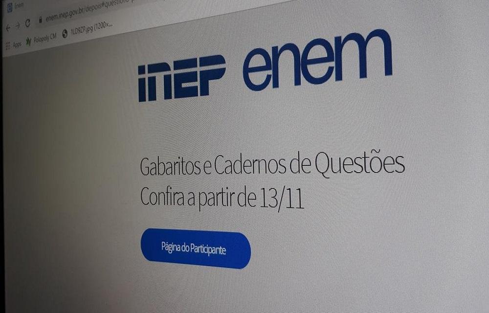 Inep divulgará gabaritos do Enem nesta quarta-feira