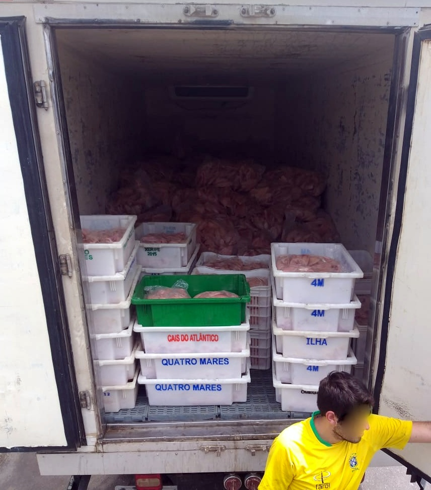 PRF recupera seis toneladas de filé de tilápia após roubo em Santa Catarina