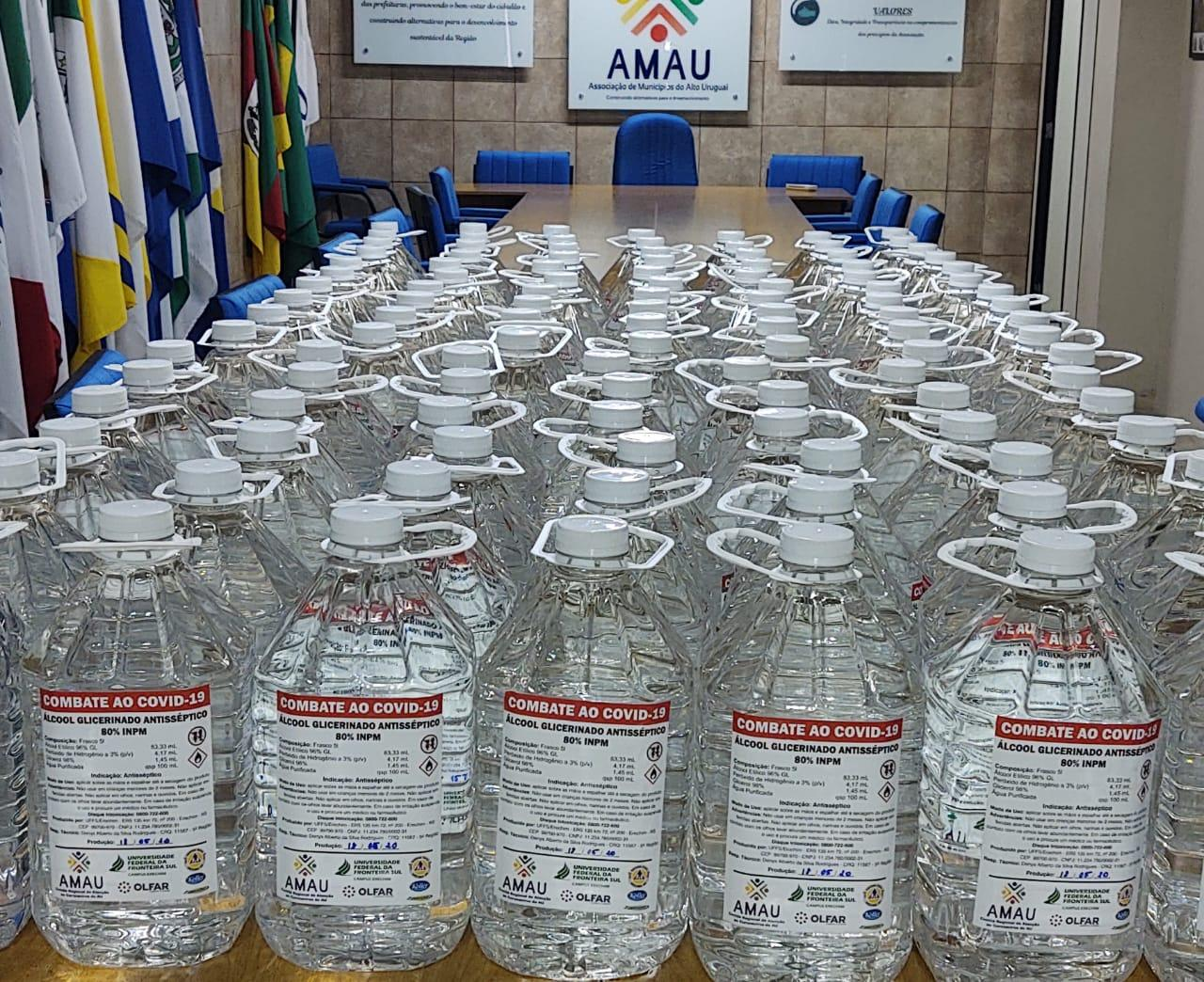 Ir para Comitê Regional distribui o 3º lote de álcool glicerinado
