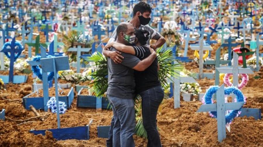 Ir para  <p><big>Se n&atilde;o houver nenhuma mudan&ccedil;a significativa no avan&ccedil;o da pandemia no pa&iacute;s, o Brasil pode superar os Estados Unidos em n&uacute;mero de mortes de covid-19 no dia 29 de julho,...