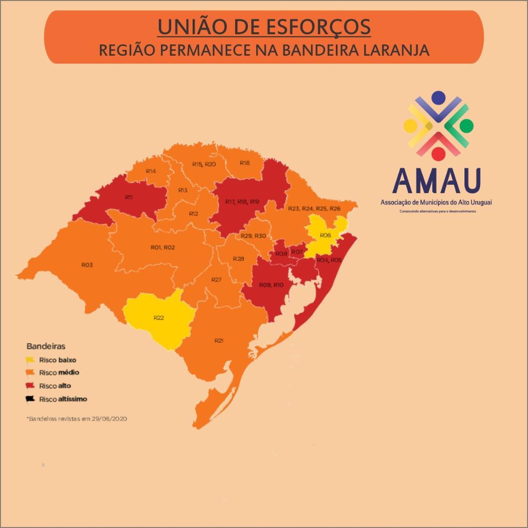 UNIÃO DE ESFORÇOS: Região permanece na Bandeira Laranja