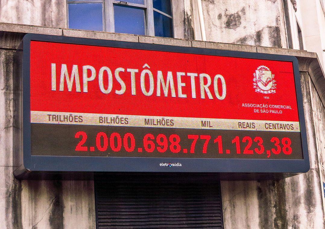 Ir para  <p>Pela primeira vez desde que foi criado, em 2005, o Impost&ocirc;metro da ACSP (Associa&ccedil;&atilde;o Comercial de S&atilde;o Paulo) registrou queda anual na arrecada&ccedil;&atilde;o de tributos no...