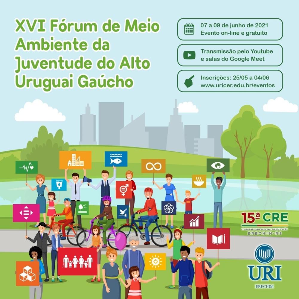 Ir para  <p><big>Est&atilde;o abertas at&eacute; sexta-feira, 4 de junho, as inscri&ccedil;&otilde;es para o XVI F&oacute;rum de Meio Ambiente da Juventude do Alto Uruguai Ga&uacute;cho, que neste ano ir&aacute;...
